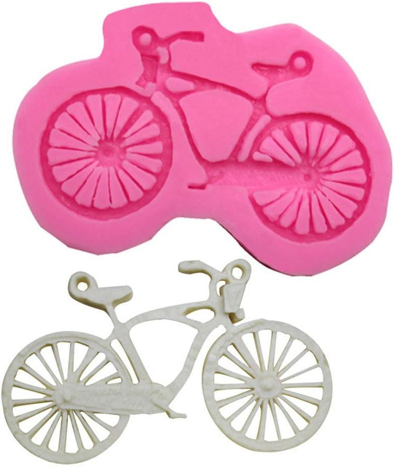 CAOLATOR Silicona Moldes Dibujos Animados de Bicicleta Molde ...