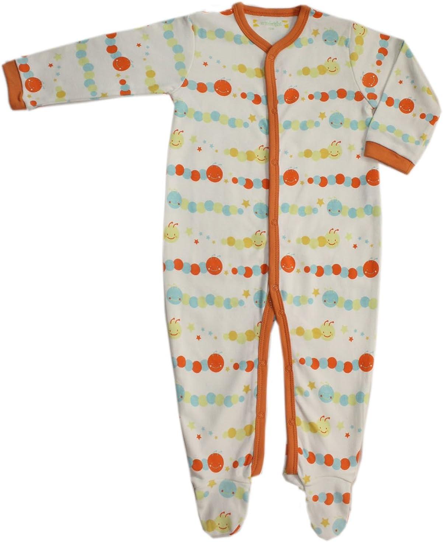 Orange Unisex Baby Lovely Caterpillar Footed Sleeper Pajama