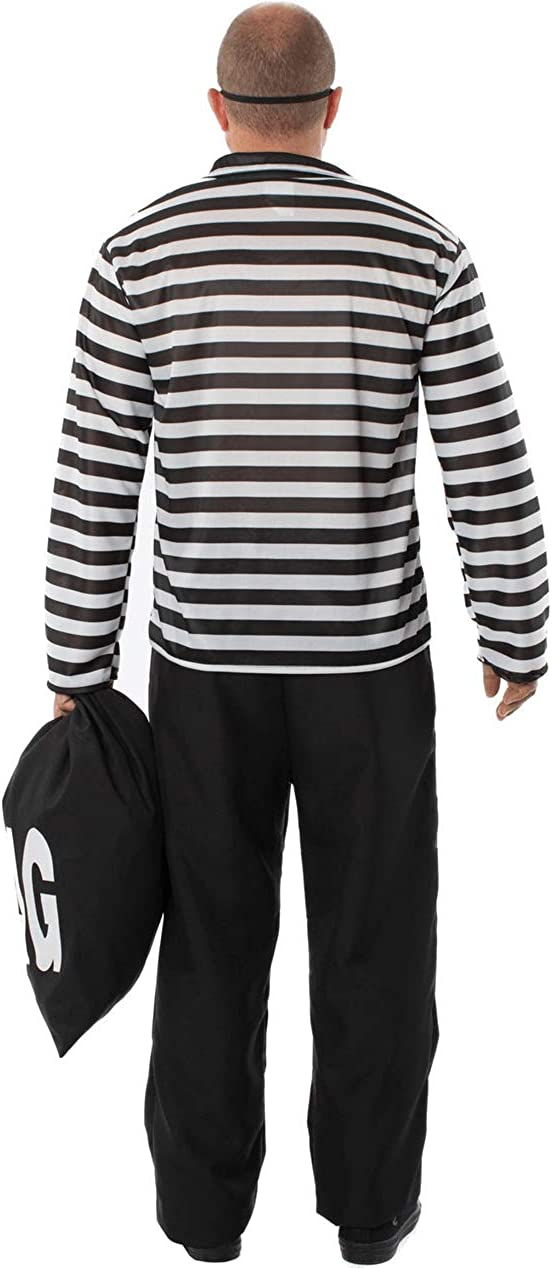 Orion Costumes Mens Striped Burglar Bill Robber Stag Night Fancy Dress Costume
