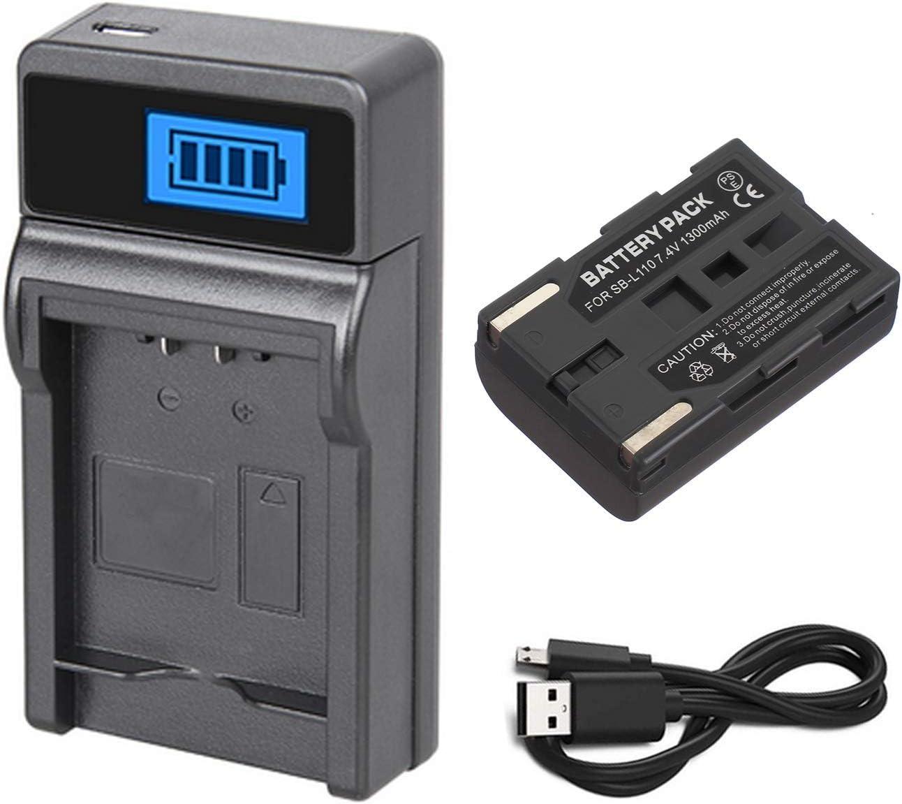 VP-D307i Digital Video Camcorder Battery Pack VP-D305i Charger for Samsung VP-D305 VP-D307
