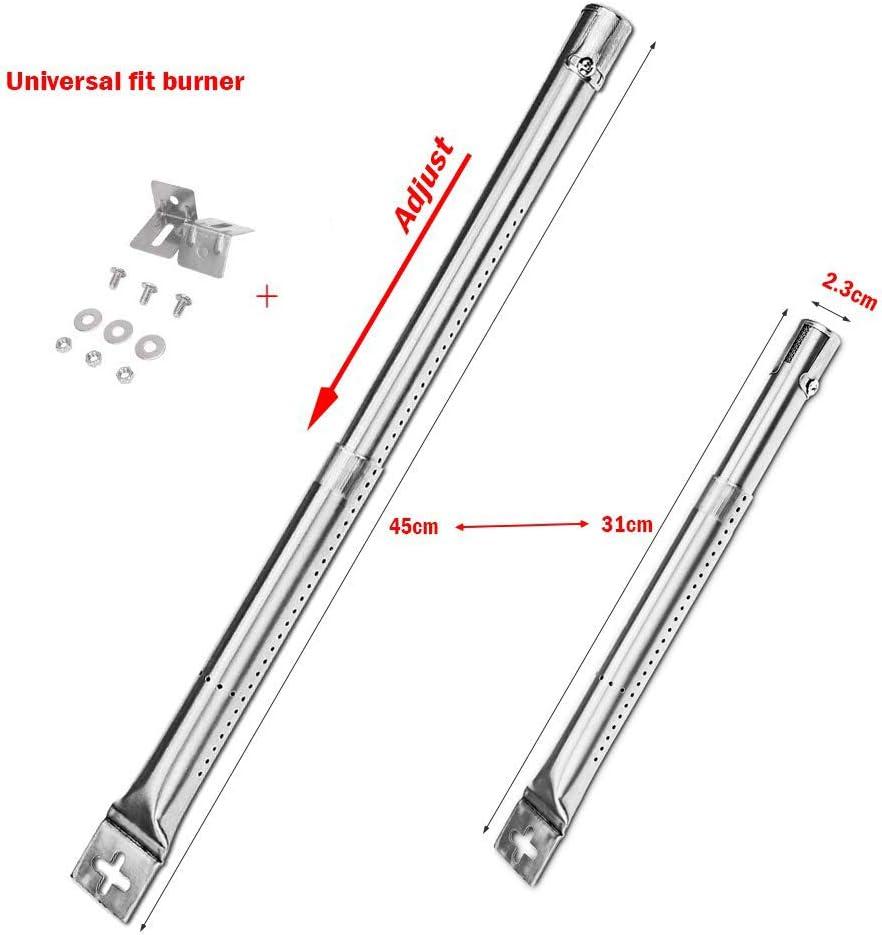 Blooma s/étend de 31 /à 45 cm Char-Broil Campingaz Brinkmann et la plupart des grills /à gaz Fire Mountain Denmay Lot de 3 tubes de br/ûleur /à gaz universels r/églables pour FirePlus CosmoGrill