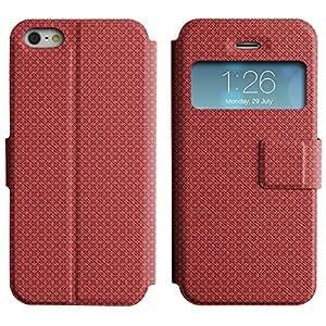 LEOCASE modelo lindo Funda Carcasa Cuero Tapa Case Para Apple iPhone 5 / 5S No.1004157