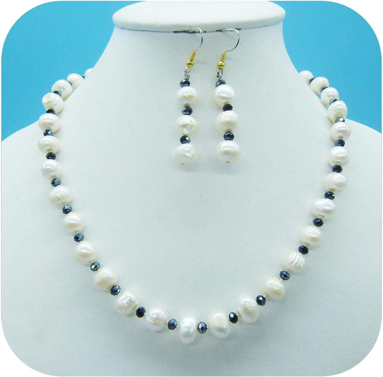 Exquisito y hermoso collar de perlas barrocas blancas naturales de 9 mm, el regalo más hermoso para amigas - Perla blanca -