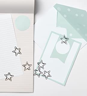 Fenteer 12 St/ück H/äufig Verwendeten Deko B/üroklammern Motiv Sterne Heftklammern Lesezeichen Clips Metall Klammern f/ür B/üro Schule Zuhause