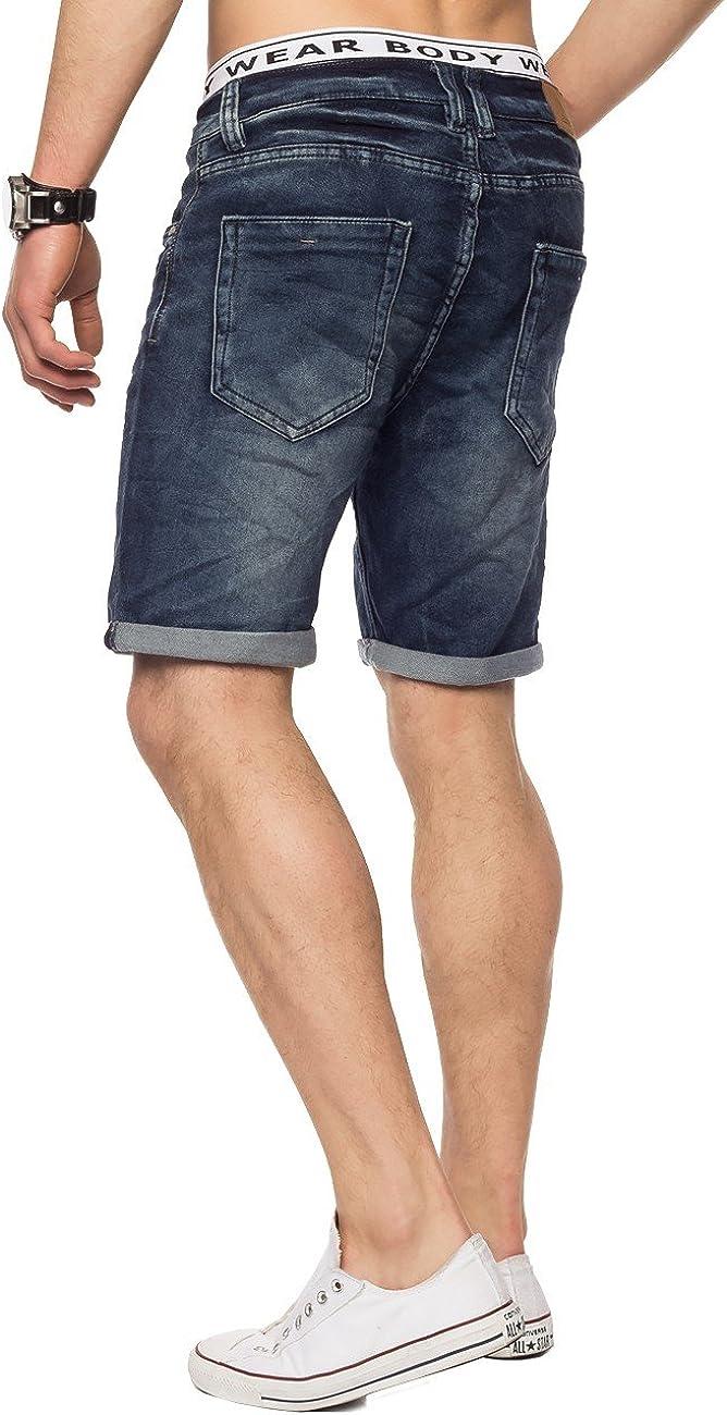 Shorts Pantalones Cortos de Mezclilla para Hombre Bermuda H1432 ArizonaShopping