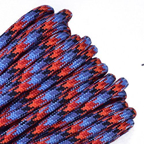 (Bored Paracord - 1', 10', 25', 50', 100' Hanks & 250', 1000' Spools of Parachute 550 Cord Type III 7 Strand Paracord Well Over 300 Colors - Lava 2-50 Feet)