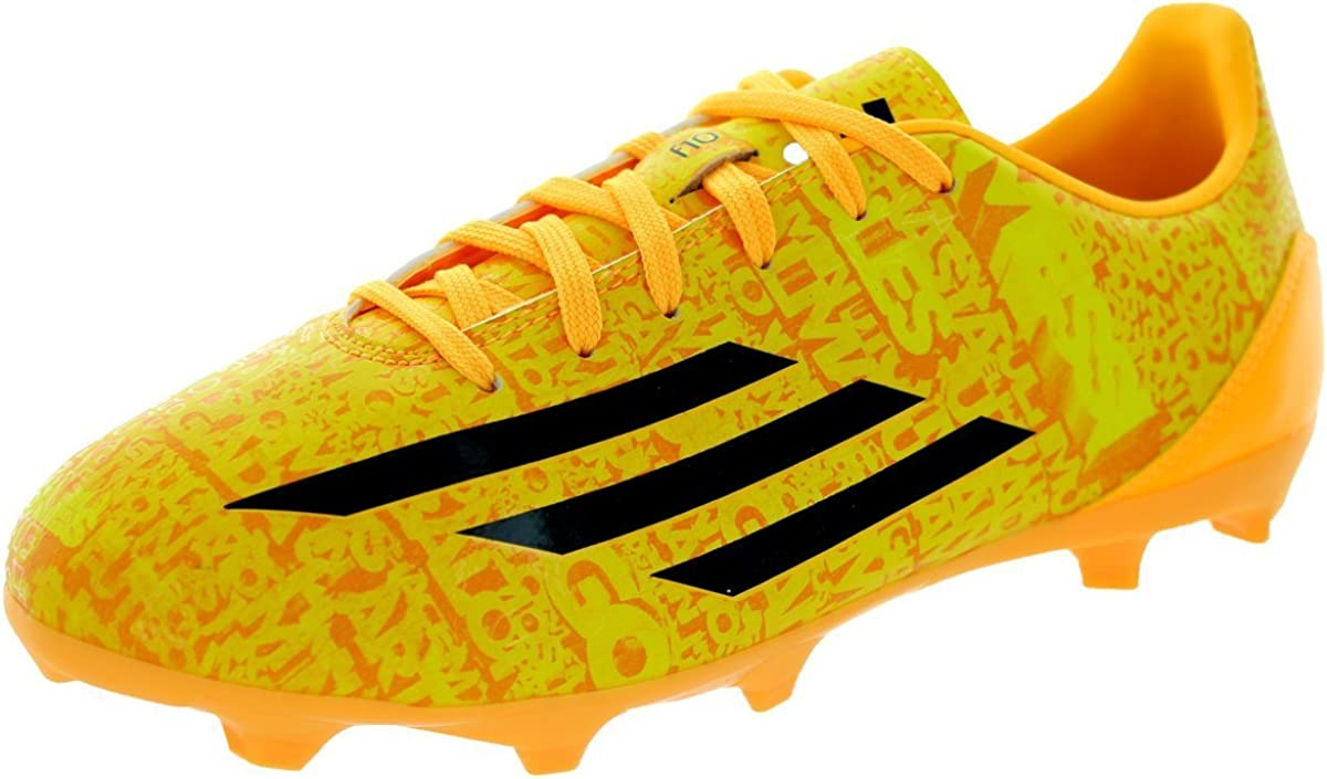 Amazon Com Adidas New Boy S F10 Fg Messi Soccer Cleats Solar Gold Black 4 Soccer