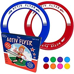 Best Kids Frisbee Rings [Red/Blue] Top Birthday Gifts Christmas Presents Xmas Stocking Stuffers - Cool Toys for Year Old Boys Girls and Fun Family Outdoor Games Love Hot Bday & Child X-mas Idea