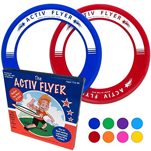 Best Kids Frisbee Rings [Red/Blue] Top Birthday Gifts Christmas Presents Xmas Stocking...