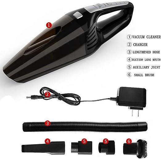 Liuliangmei Aspirador portátil, Aspirador inalámbrico, Aspirador de batería de Iones de Litio, Tiempo de Funcionamiento 30 Minutos, 5000 PA, (Aspirador ciclónico Wet & Dry 120 W): Amazon.es: Hogar