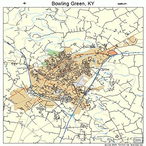Amazon.com: Large Street & Road Map of Bowling Green, Kentucky KY ...