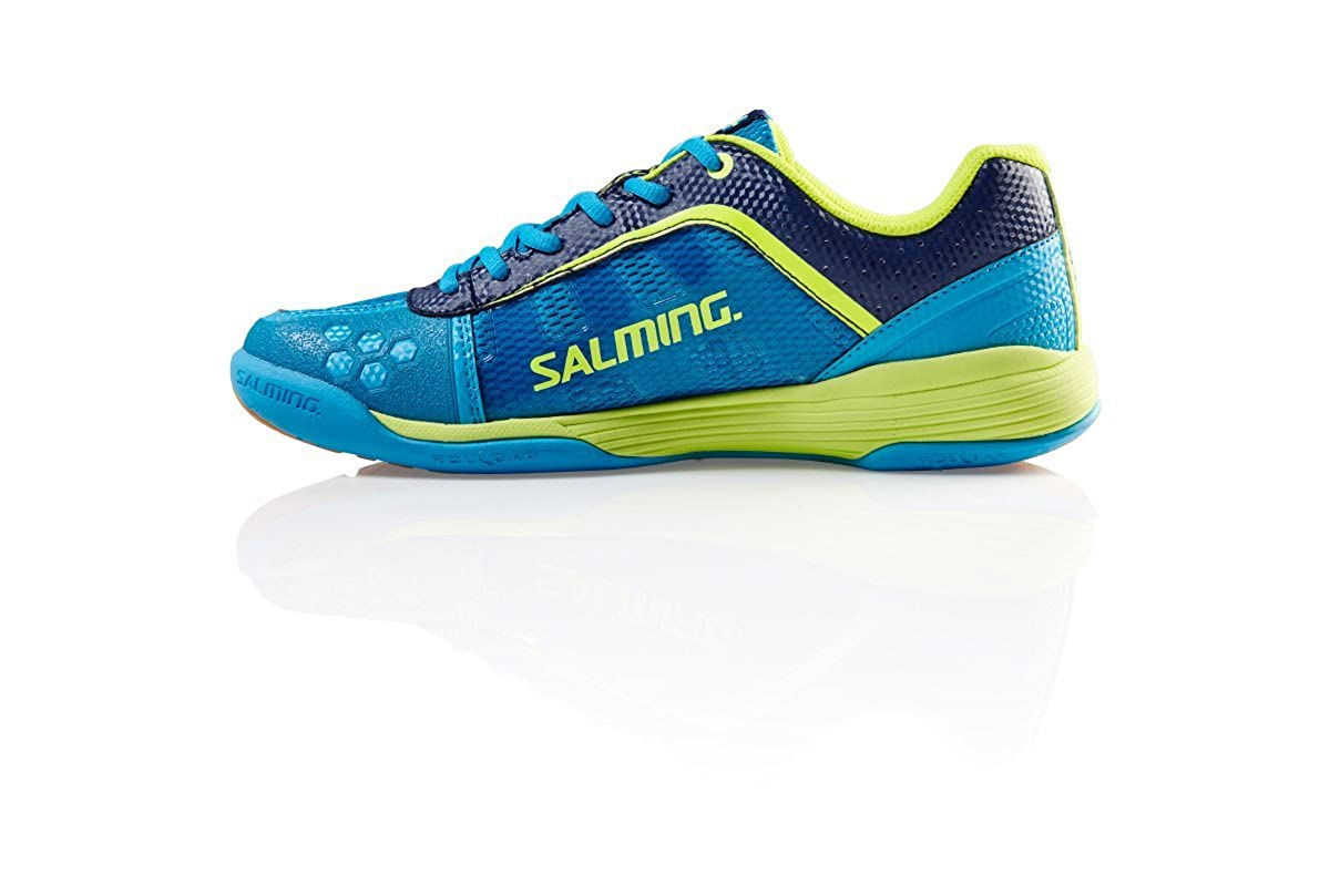 Salming Adder Cyan//Safety Yellow Indoor Court Shoes
