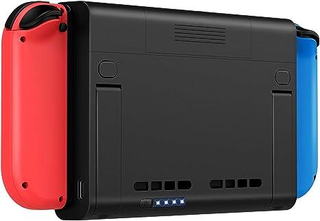 Nintendo Switch-Estuche de batería 6500mAh - Estuche de carga ...
