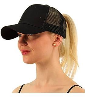 a8e3ea1e5 Alljoin Ponytail Baseball Cap Hat Ponycap Messy High Bun Ponytail  Adjustable Mesh Trucker Baseball Cap Hat