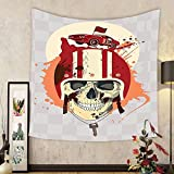 Gzhihine Custom tapestry Skulls Decorations Tapestry Flowers And Skulls Day Catholic Ceremony Artistic Design Art Bedroom Living Room Dorm Decor