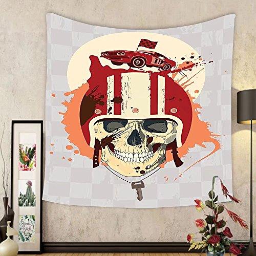 Gzhihine Custom tapestry Skulls Decorations Tapestry Flowers And Skulls Day Catholic Ceremony Artistic Design Art Bedroom Living Room Dorm Decor by Gzhihine