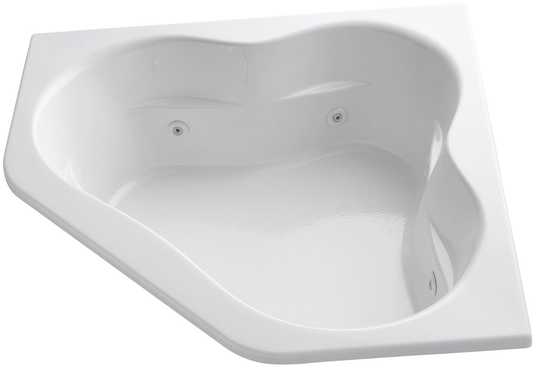 KOHLER K-1160-0 Tercet Whirlpool, White - Freestanding Bathtubs ...