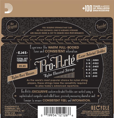 Large Product Image of D'Addario EJ45 Pro-Arte Nylon Classical Guitar Strings, Normal Tension