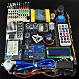 Robotlinking Uno Super Learning Kit with Power Supply 9V-1A, LCD, Servo, Prototype for Arduino UNO R3 Including UNO R3 (23 Project)