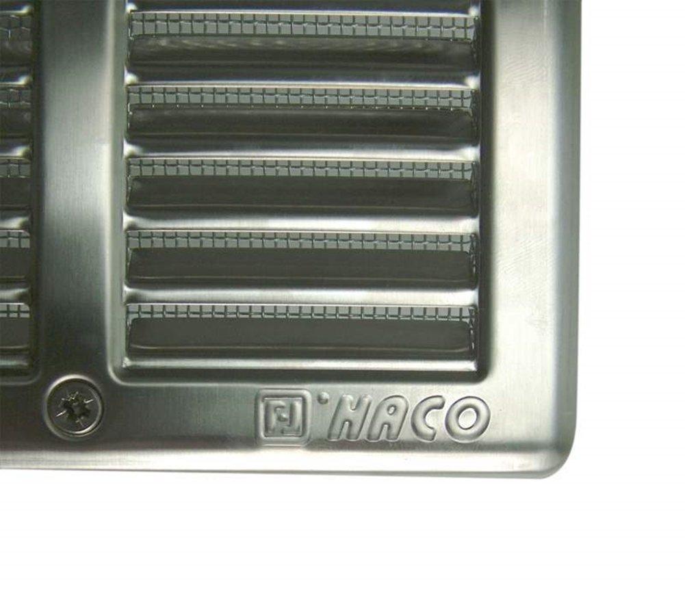 /Grille daspiration avec protection insectes et cadre de montage /200/x 200/mm/ carr/é Acier inoxydable grille de ventilation/