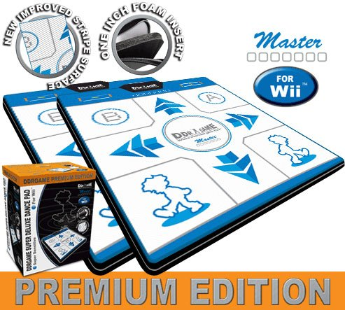 2x DDR Game Super Sensitive Super Deluxe Premium Edition Dance Pads for Wii -