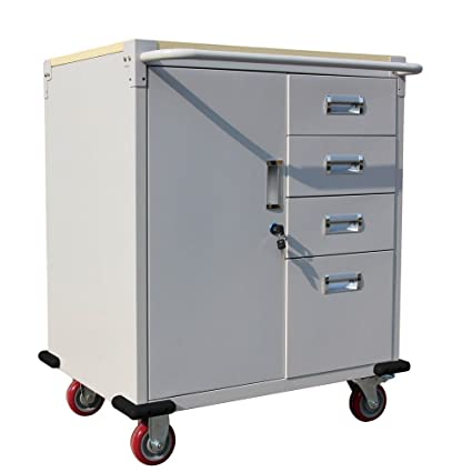 amazon com heavy duty rolling storage cabinet garage toolbox with 4 rh amazon com small rolling cabinet with drawers plastic rolling storage cabinet with drawers