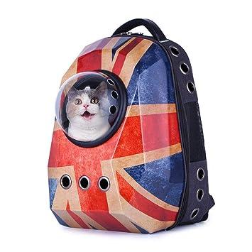 aheadad Mochila Mascotas con diseño ventilado Diamante Exterior Transpirable Cápsula Espacial portátil Bolso Mochila para Gatos y Perros pequeños: ...