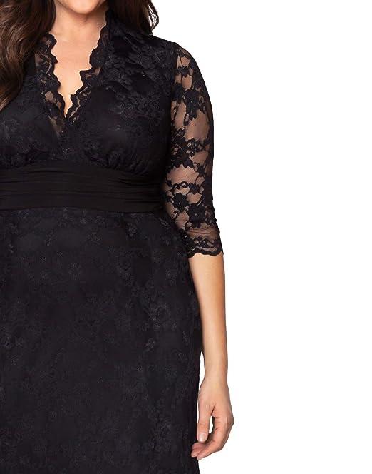 2a7aeceb058 Amazon.com  Kiyonna Women s Plus Size Screen Siren Lace Gown  Clothing