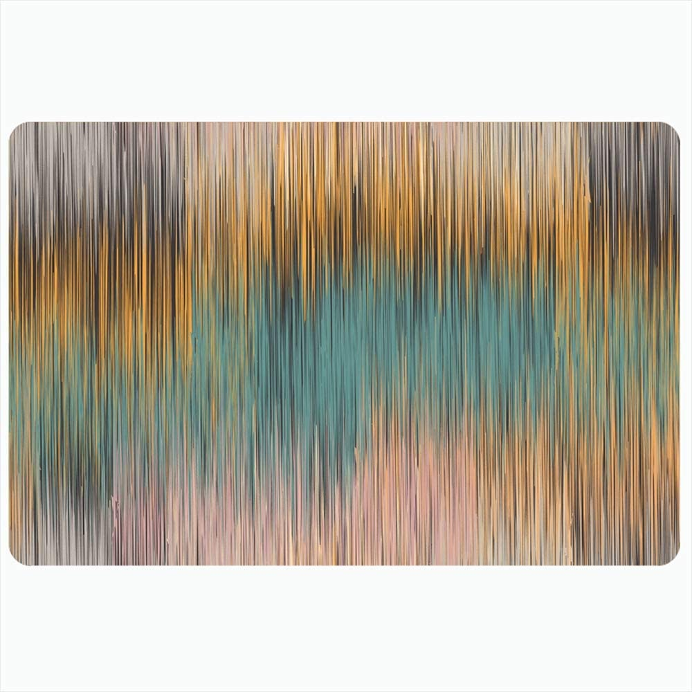 Ahawoso Bath Rug for Bathroom Non Slip Mats 16x24 Inches Paper Vintage Space Colorful Watercolor Your Designpainting On Abstract from Textures Conservation Plush Decor Doormat Non Slip Backing Mat