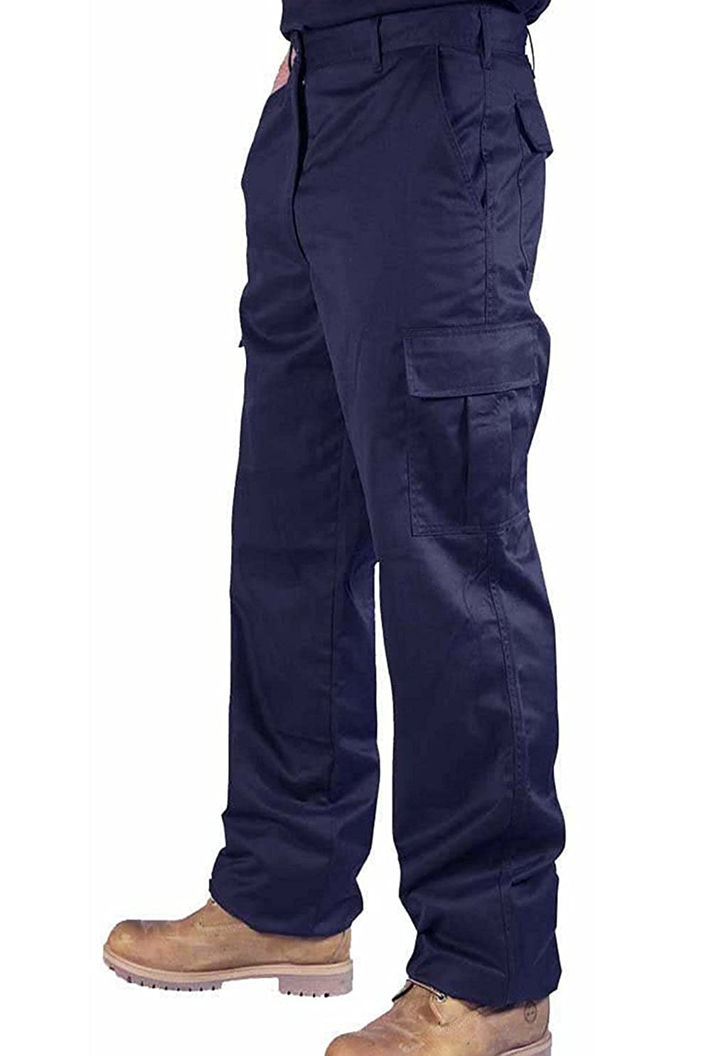 TS2 Mens Cargo Combat Work Black Navy Trousers Sizes 28'- 50' with Knee Pad Pockets Parent-TS2B2
