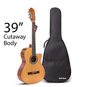 Cutaway Classical Guitar by Hola! Music