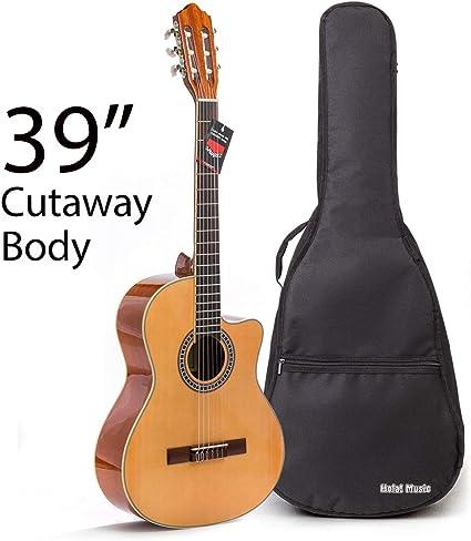 Guitarra clásica Cutaway con cuerdas de nailon suave de Hola ...