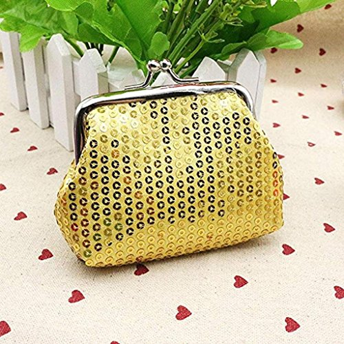 Wallet Noopvan Ladies Retro Wallet Handbag Wallet Small Gold Clearance Sequin Purse 2018 Womens Coin Clutch rr74OnqU
