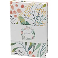 """Classic Hardcover Notebook, Dotted, Large (5.5"""" x 8"""") Bloom Hard Cover Notebook 192 Pages for Bullet Journaling, Writing, Sketching"""
