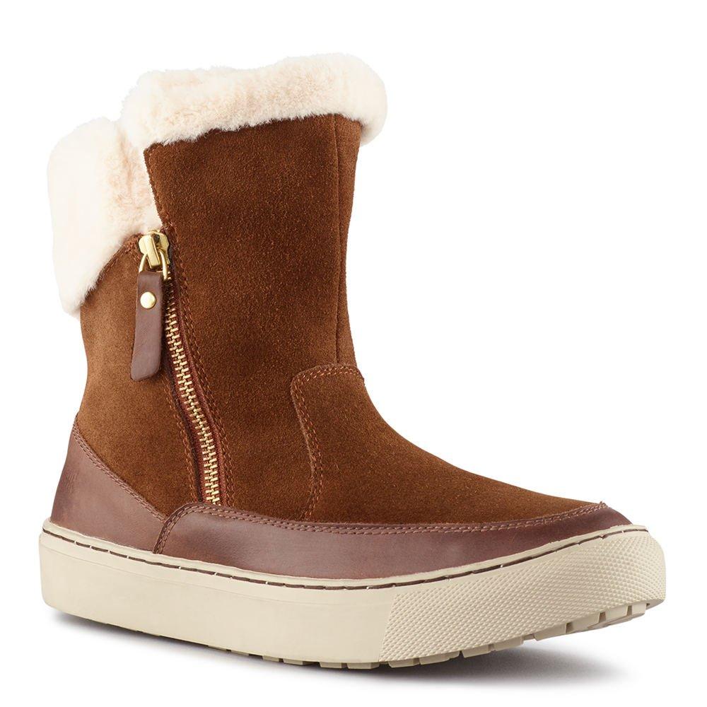 Cougar Women's Dresden Side Zip Waterproof Winter Boot Dk Brown 8 M US