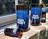 Set of 2 upcycled Bud Light glasses and 2 shot glasses For Sale