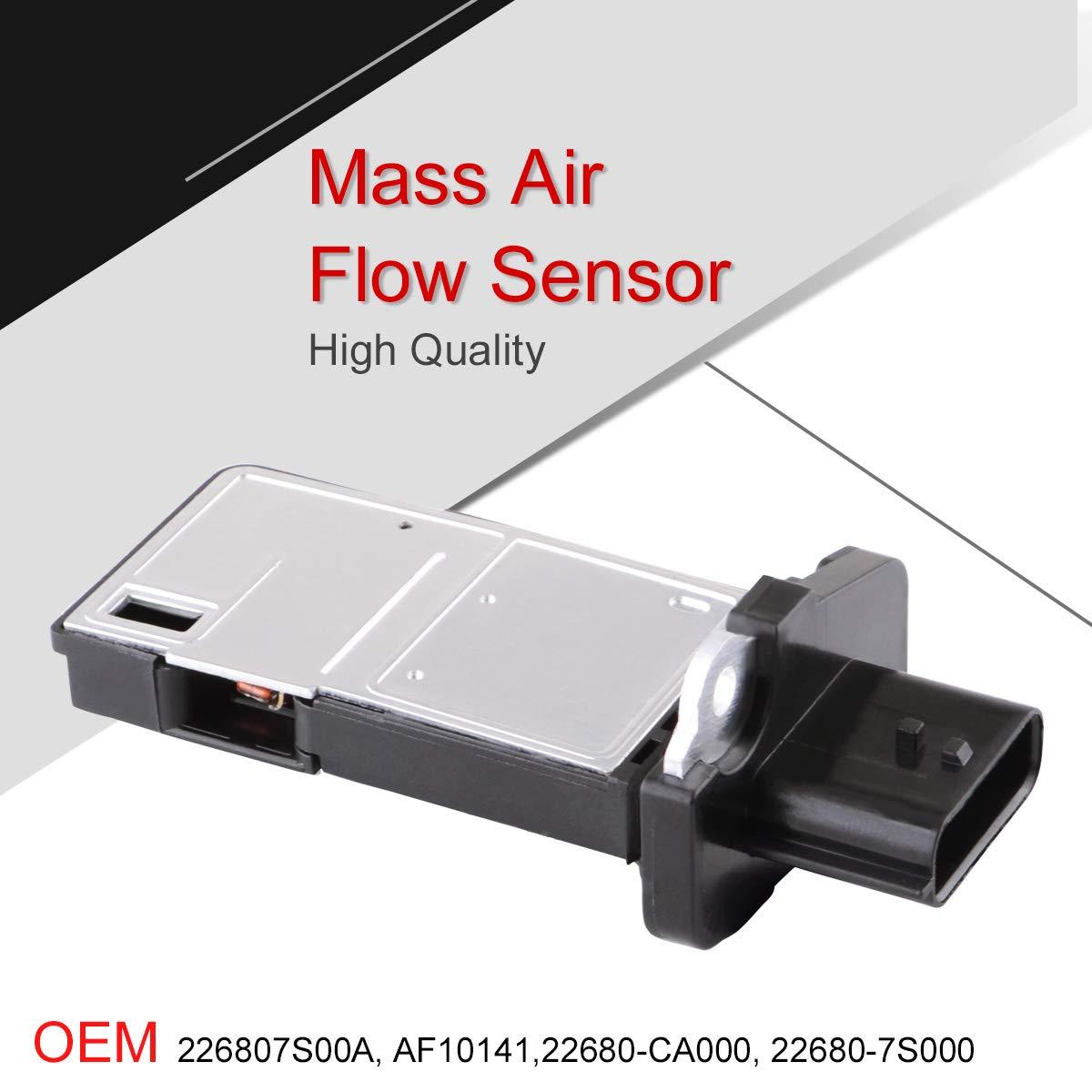 ESPEEDER MAF Sensor Mass Air Flow Meter 22680-7S000 22680-CA000 for Nissan 370Z/Altima/Armada/Frontier Sentra Pathfinder/Infiniti/FX35/G37/QX50/Peugeot 206/Suzuki Equator /& More