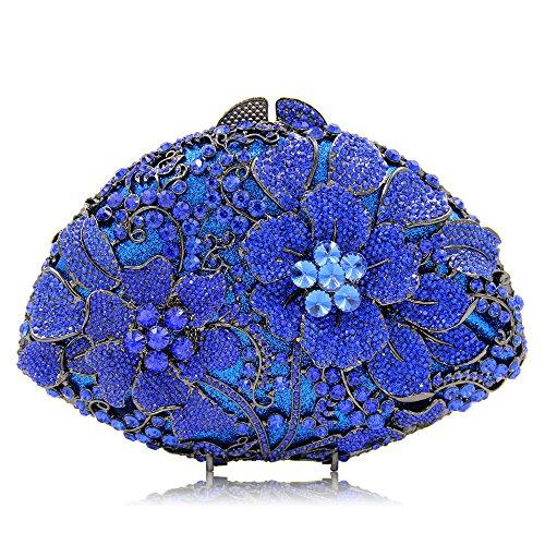 À Femmes Fleur D'embrayage De Sac Sacs Totes Sac NBWE Main À Bandoulière Strass Blue Cristal Bouquet Soirée 1wnvTnqRxp
