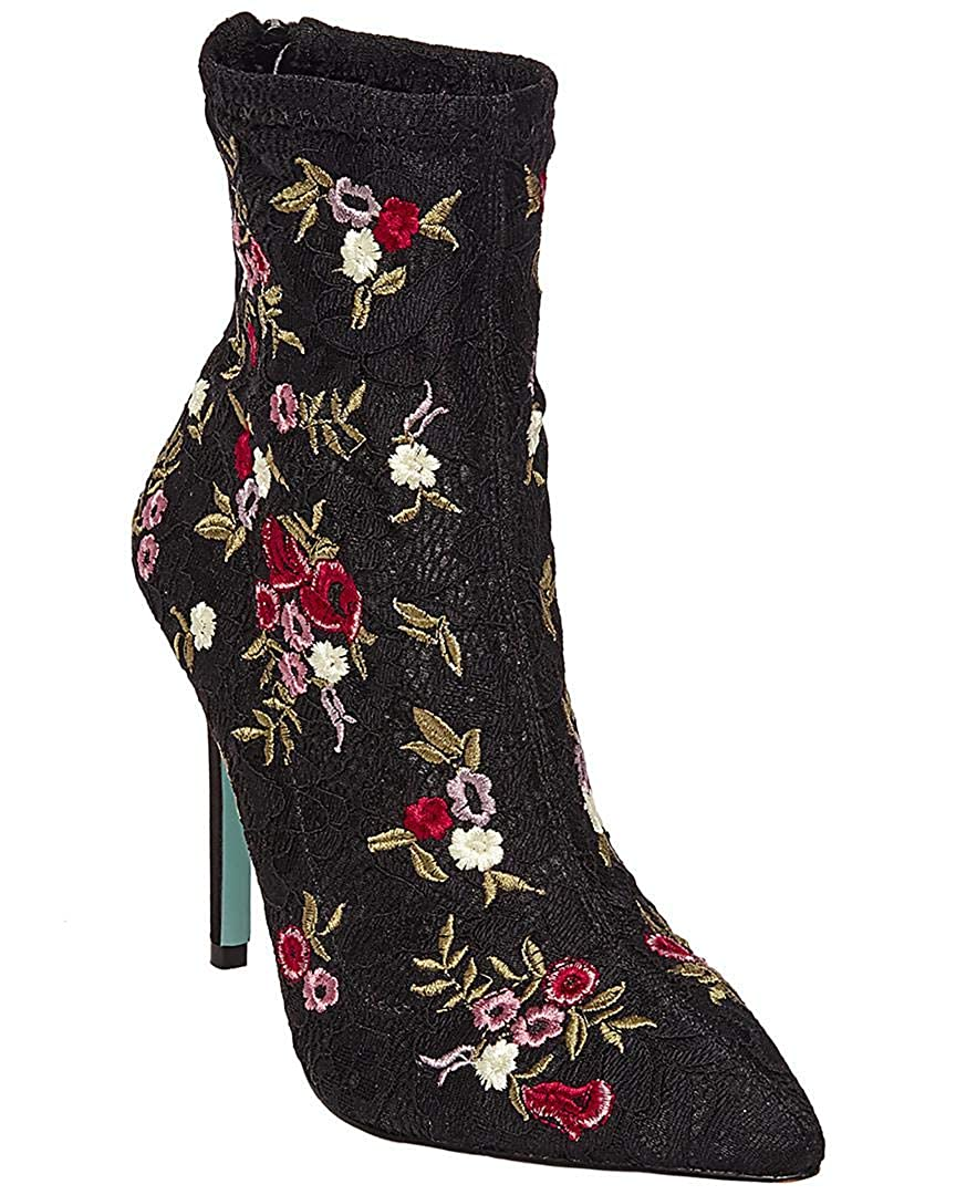 Black//Red 8 M Blue by Betsey Johnson Womens REMI Ankle Bootie