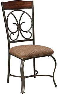 Ashley Furniture Signature Design   Glambrey Dining Room Chair Set    Scrolled Metal Accents   Set
