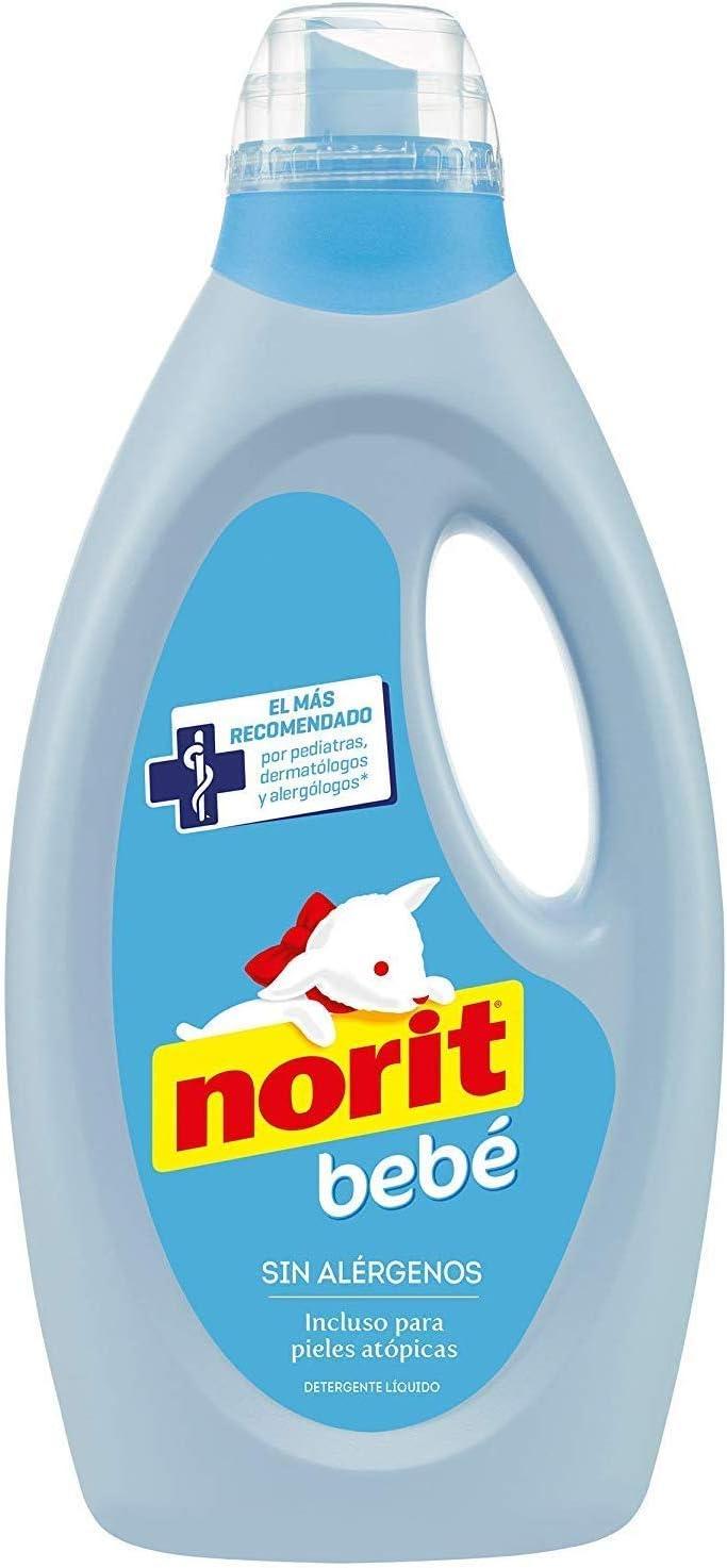 Norit Ropa de Bebé y Pieles Atópicas Detergente Líquido - 1125 ml