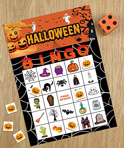Halloween Games Bingo Cards for Kids Party Supplies 24players by jollylife (Image #5)