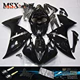 MSXmoto Fairing Kits Fit for Yamaha YZF1000 YZF1000-R1 2009 2010 2011 Motorcycle Fairing Kit Plastic ABS Plastic Injection Molding Kit Complete Motorcycle Fairing Bodywork Painted(Black)