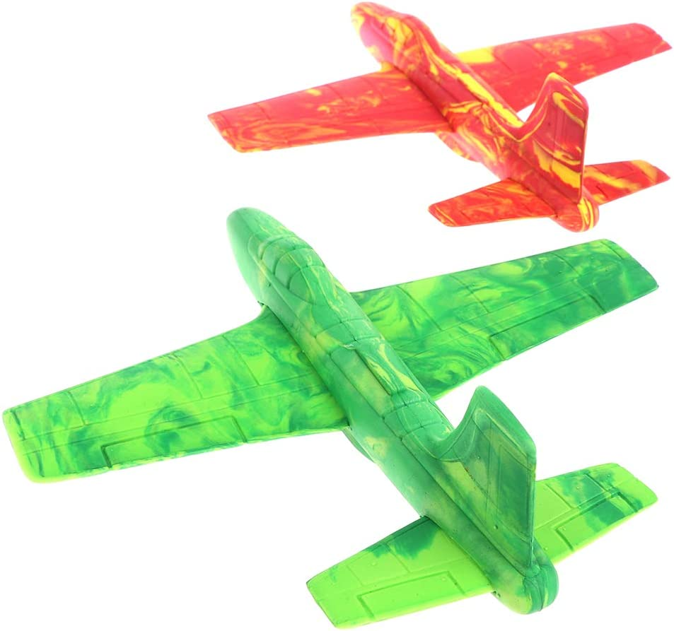 TIANTIAN 4 Pcs Glider Plane Airplane Toy Foam Plane Assorted Colors Flight Model Toy Throwing Plane Aircraft Toy Outdoor Toy Games for Kids Birthday Gifts for 3 4 5 6 7 8 9 Years Olds Boys Girls