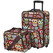 ROCKLAND F102-OWL 2 Piece Luggage Set, Owl, One Size