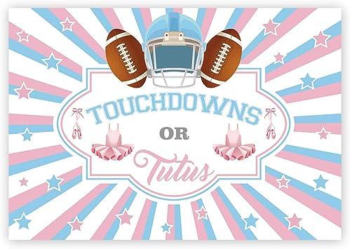 football shower decor gender reveal centerpiece football gender reveal football baby shower Team Blue Pink Baby shower centerpiece