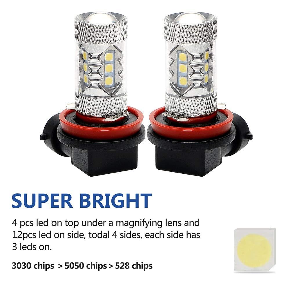 1 Pcs H8 H11 9005 9006 720 Degree Spherical Three-dimensional Auto Fog Lamp LED Car Headlight Running Light 50W MAGONN