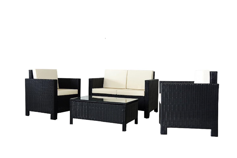 New Rattan Stuhl Set Möbel Serie–SCHWARZ Lieferung durch 01/07/2015
