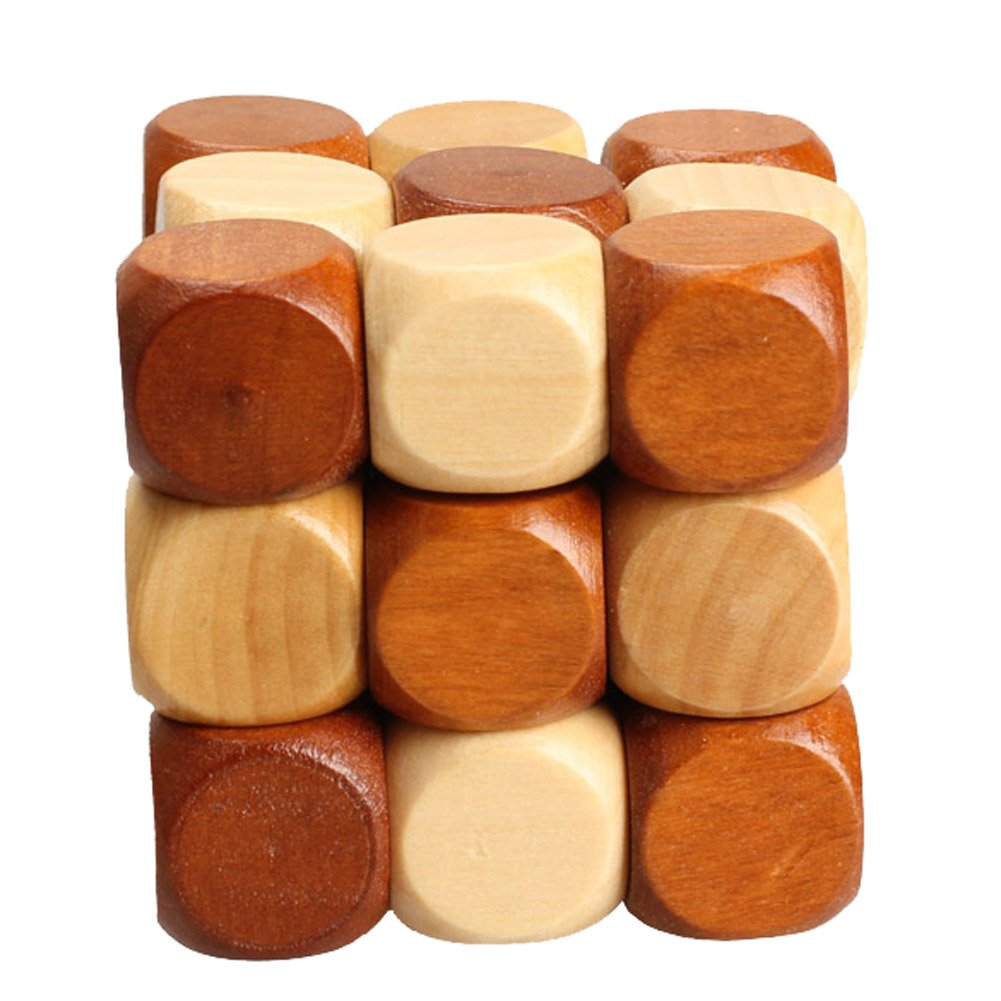Tenflyer Chinese Traditional Wooden Adult Children Puzzle Intelligence Education Toy