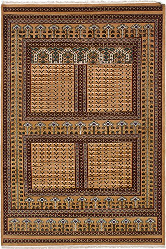 eCarpet Gallery Area Rug for Living Room, Bedroom | Hand-Knotted Wool Rug | Peshawar Bokhara Traditional Brown Rug 5
